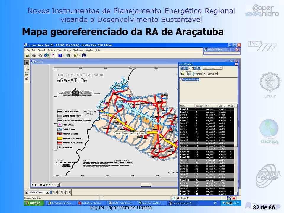 Mapa georeferenciado da RA de Araçatuba