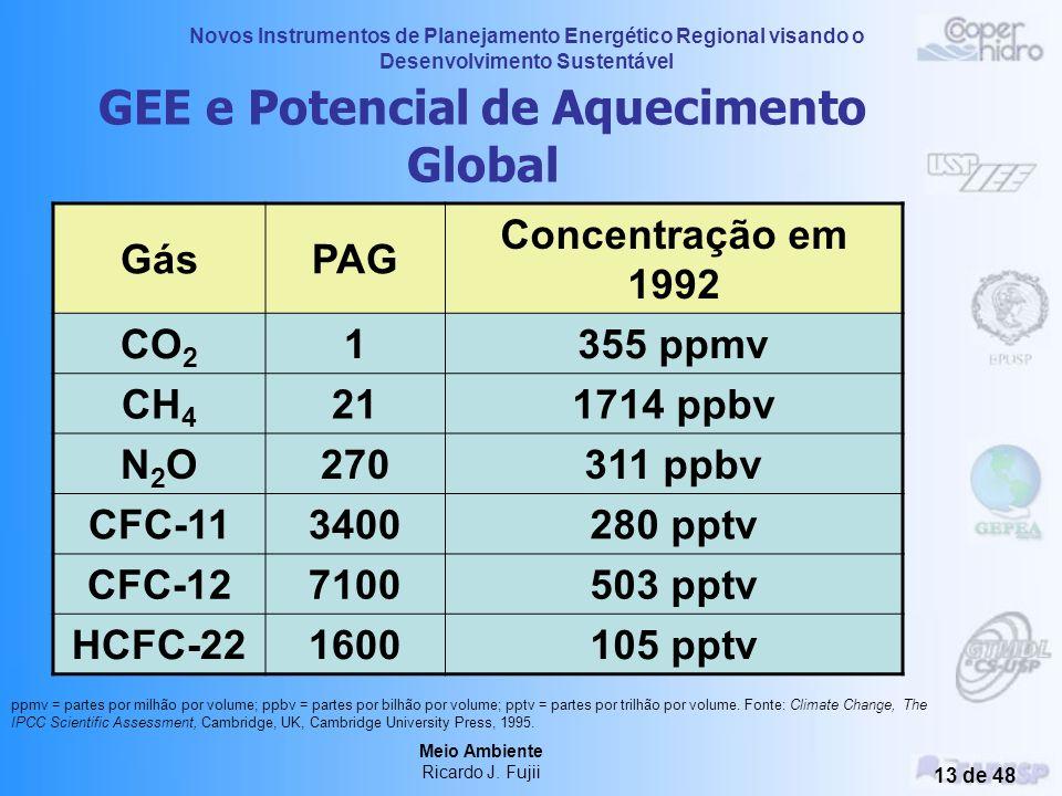 GEE e Potencial de Aquecimento Global