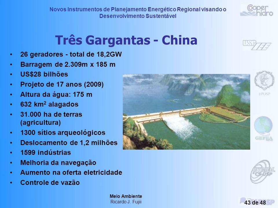Três Gargantas - China 26 geradores - total de 18,2GW