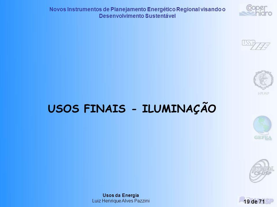 USOS FINAIS - ILUMINAÇÃO