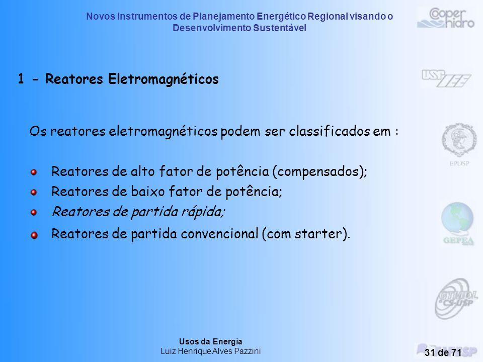 1 - Reatores Eletromagnéticos