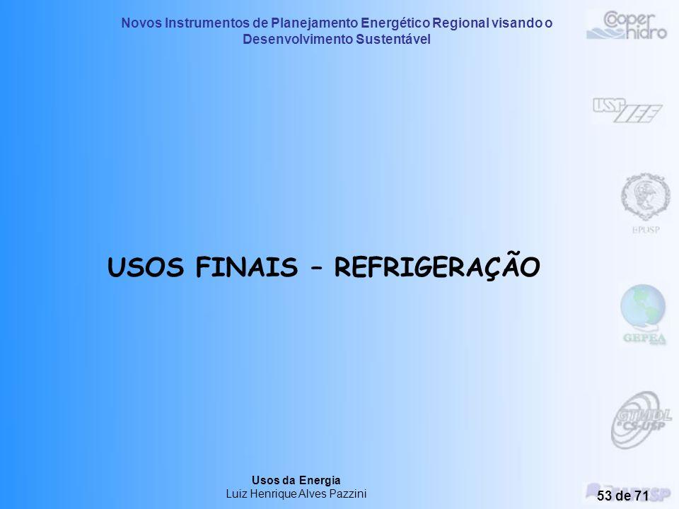 USOS FINAIS – REFRIGERAÇÃO