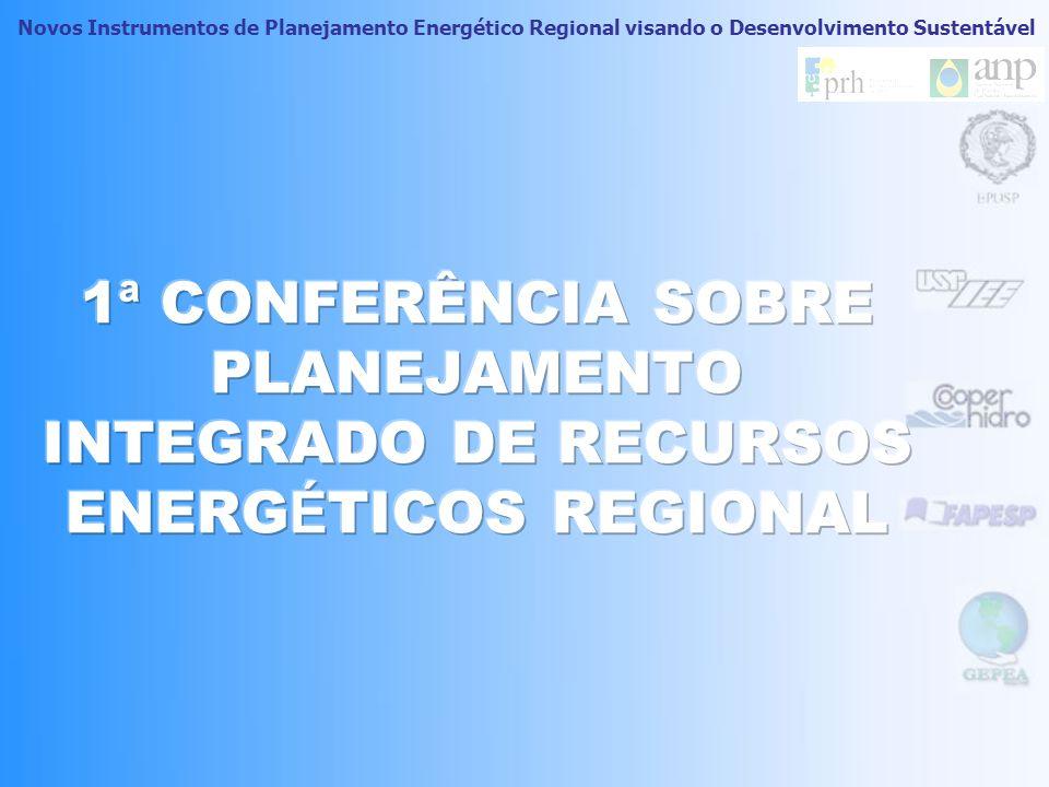 1ª CONFERÊNCIA SOBRE PLANEJAMENTO INTEGRADO DE RECURSOS ENERGÉTICOS REGIONAL