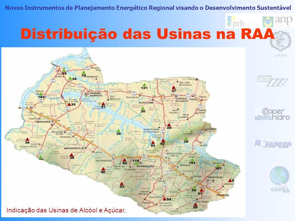 Distribuição das Usinas na RAA