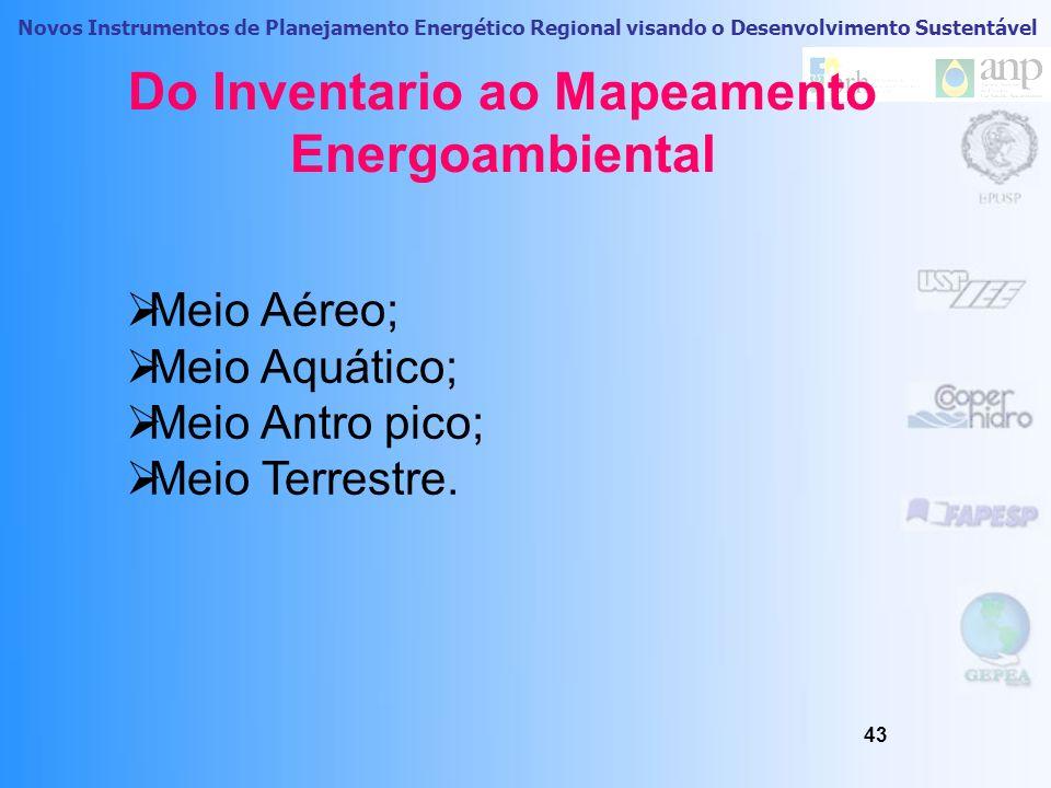 Do Inventario ao Mapeamento Energoambiental
