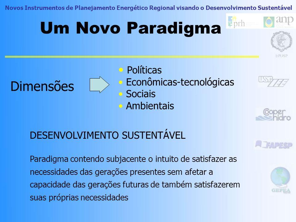 Um Novo Paradigma Dimensões Políticas Econômicas-tecnológicas Sociais
