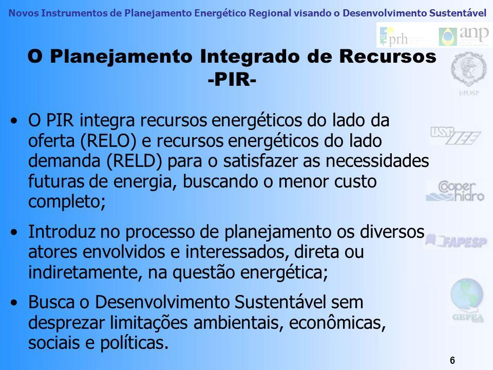 O Planejamento Integrado de Recursos -PIR-
