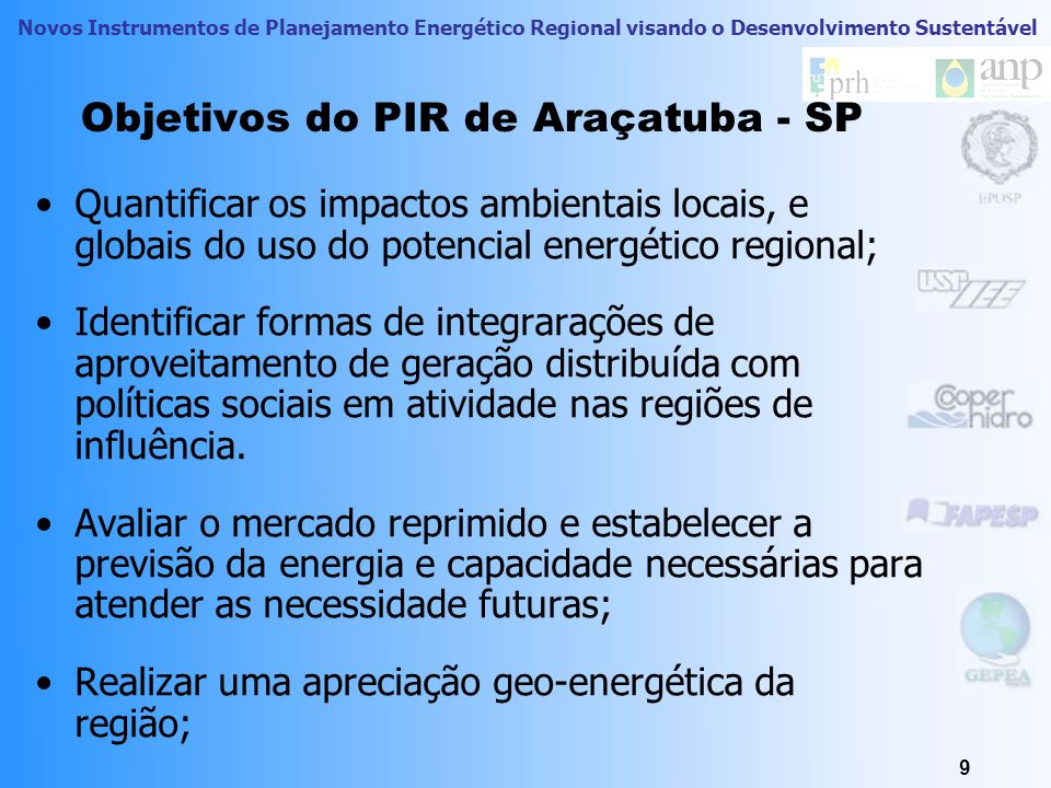 Objetivos do PIR de Araçatuba - SP