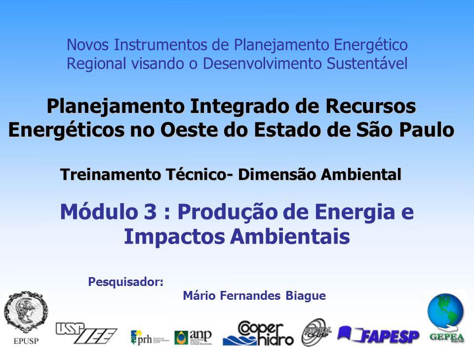 Módulo 3 : Produção de Energia e Impactos Ambientais