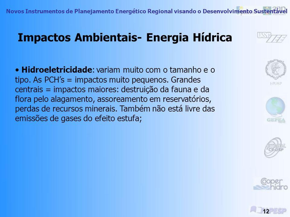 Impactos Ambientais- Energia Hídrica
