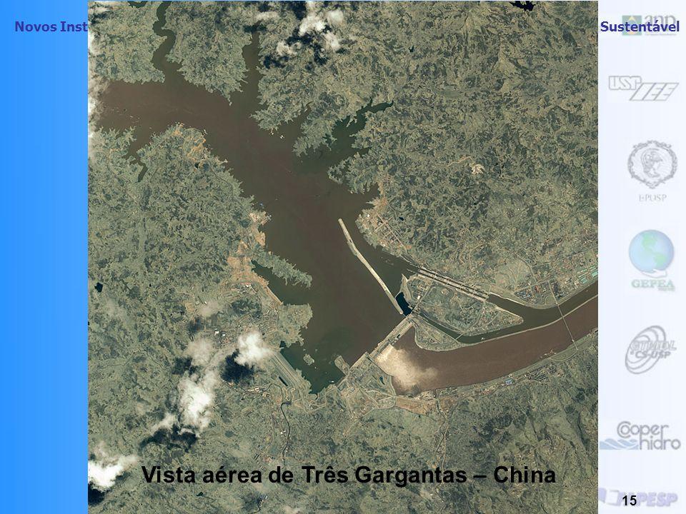 Vista aérea de Três Gargantas – China