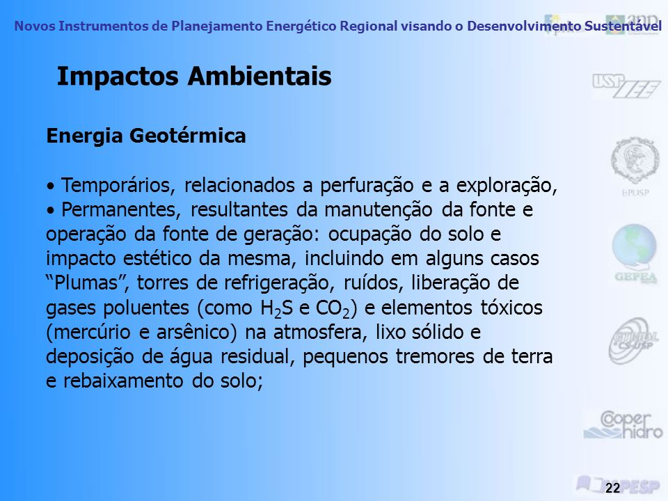 Impactos Ambientais Energia Geotérmica