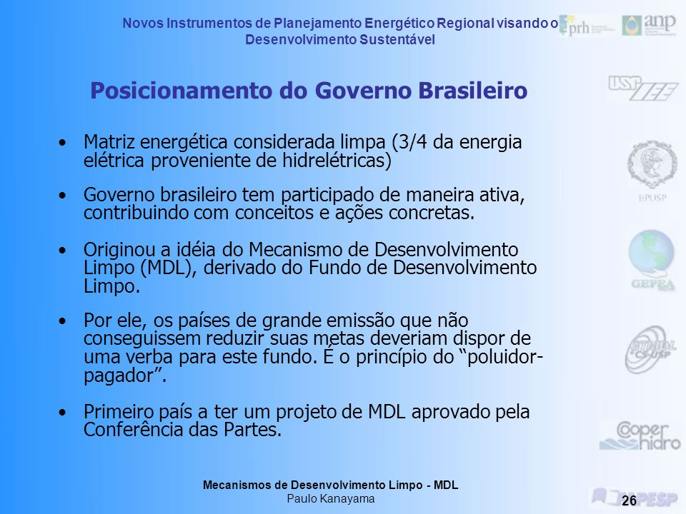 Posicionamento do Governo Brasileiro