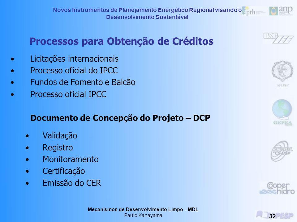 Processos para Obtenção de Créditos