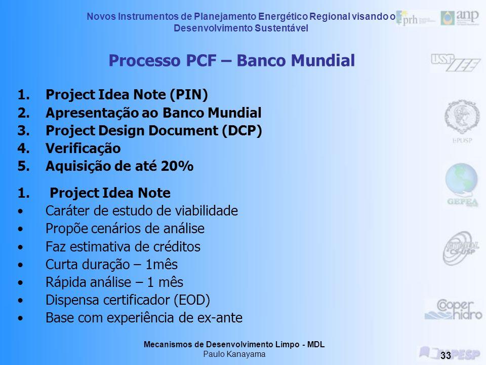 Processo PCF – Banco Mundial