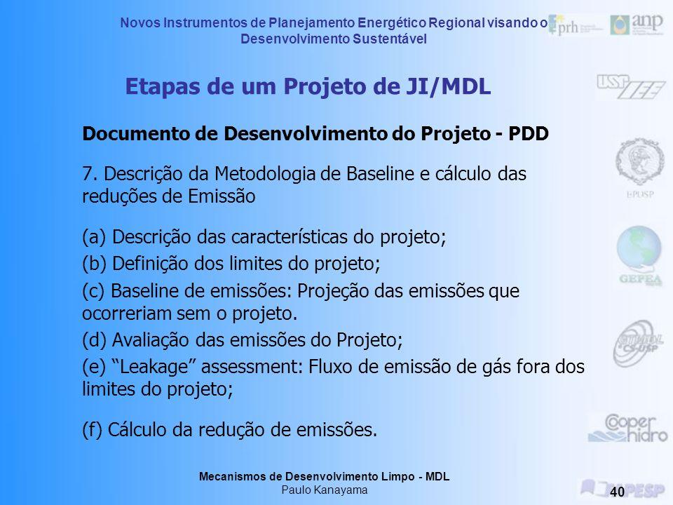 Etapas de um Projeto de JI/MDL