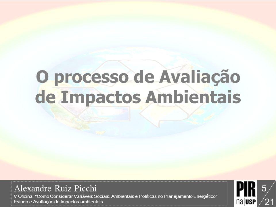 O processo de Avaliação de Impactos Ambientais