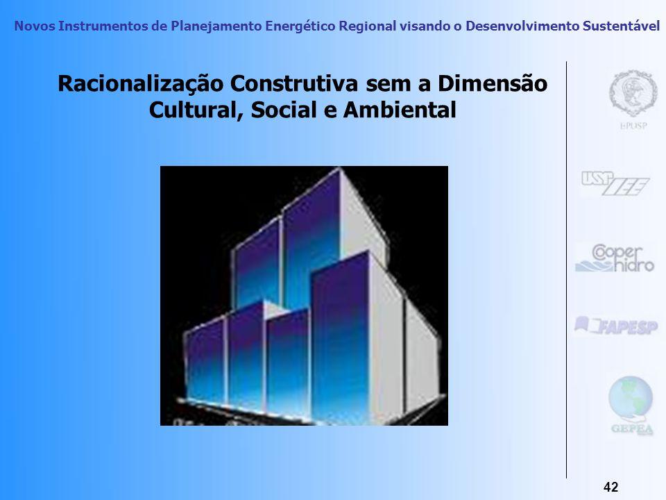 Racionalização Construtiva sem a Dimensão Cultural, Social e Ambiental