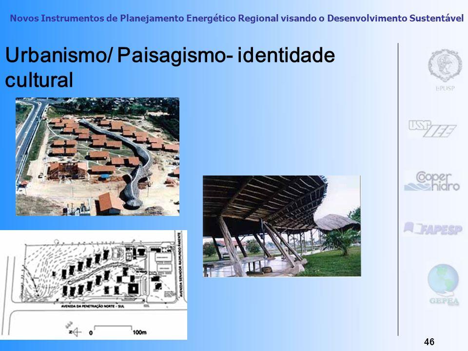 Urbanismo/ Paisagismo- identidade cultural