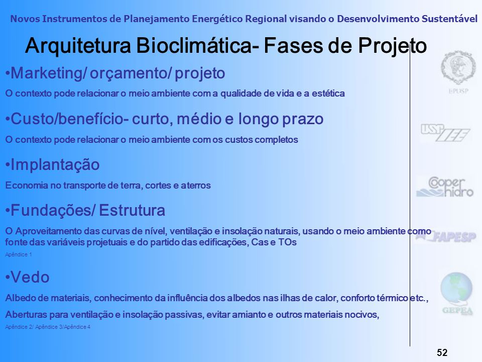 Arquitetura Bioclimática- Fases de Projeto