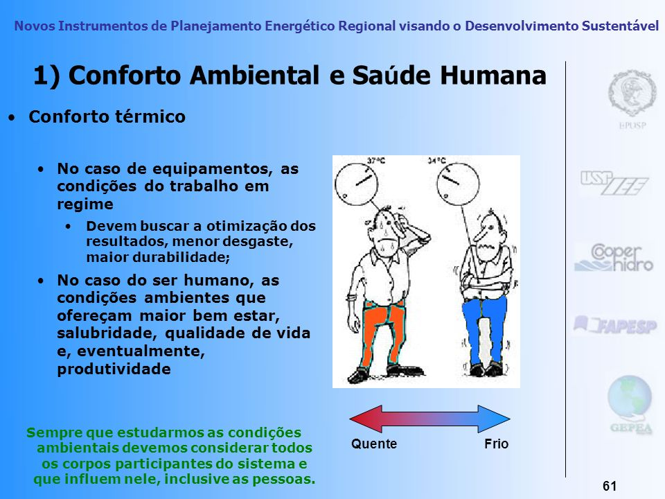 1) Conforto Ambiental e Saúde Humana