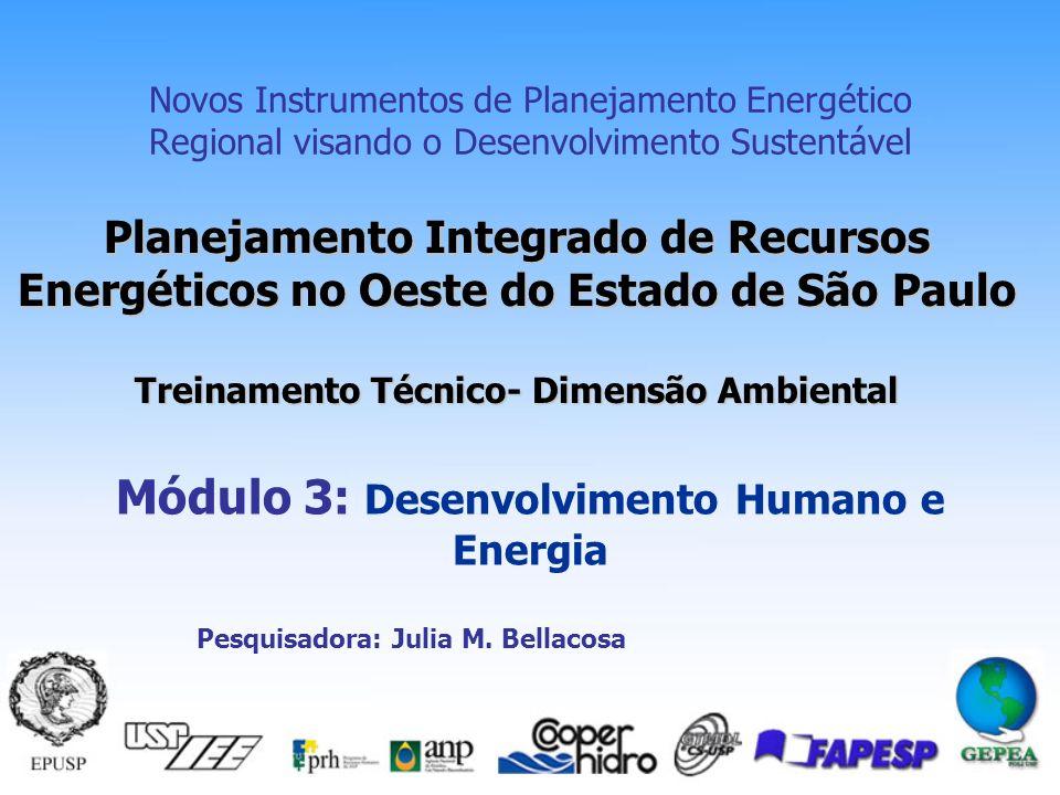 Módulo 3: Desenvolvimento Humano e Energia