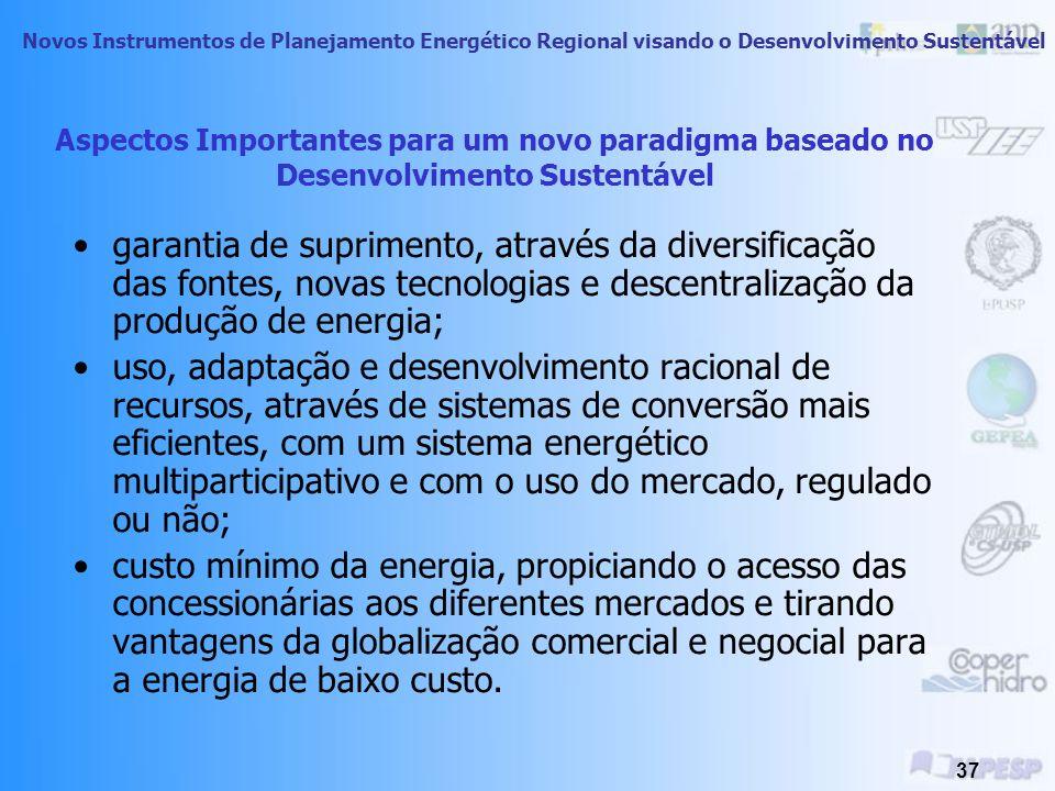 Aspectos Importantes para um novo paradigma baseado no Desenvolvimento Sustentável