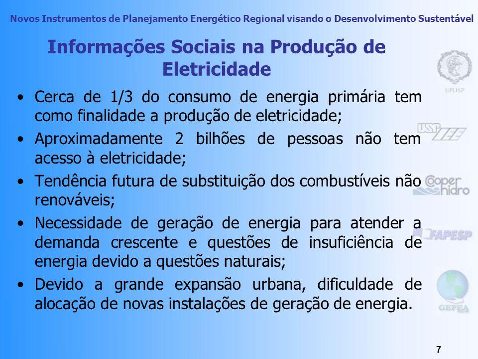 Informações Sociais na Produção de Eletricidade