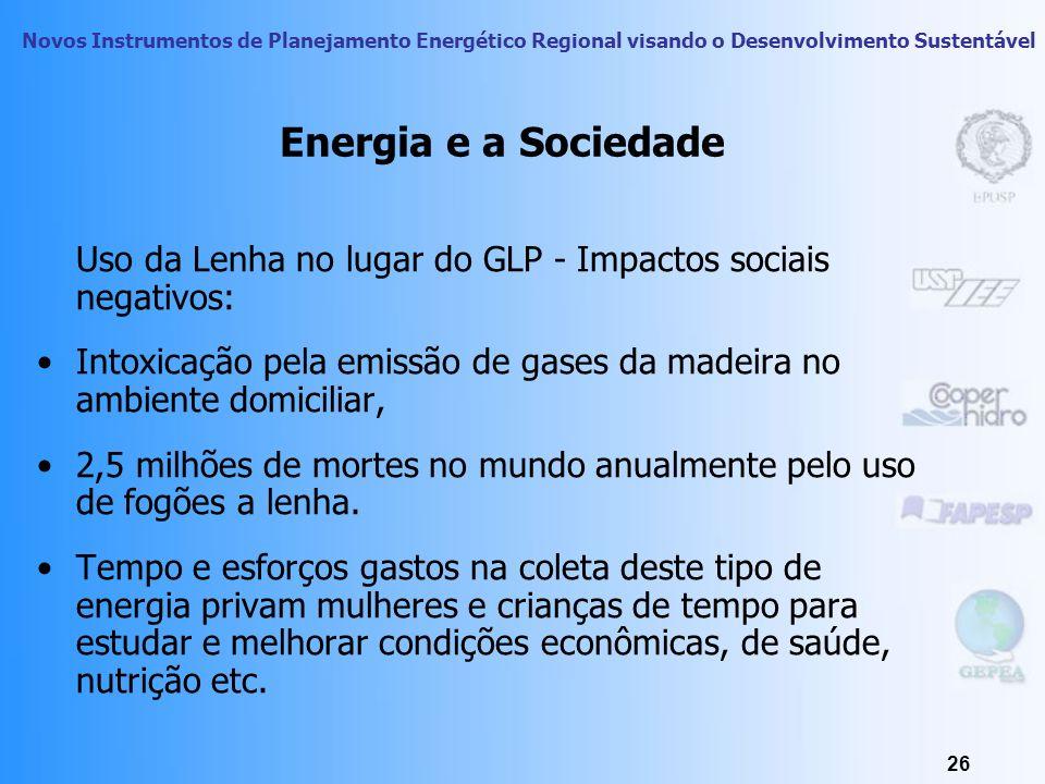 Energia e a Sociedade Uso da Lenha no lugar do GLP - Impactos sociais negativos: