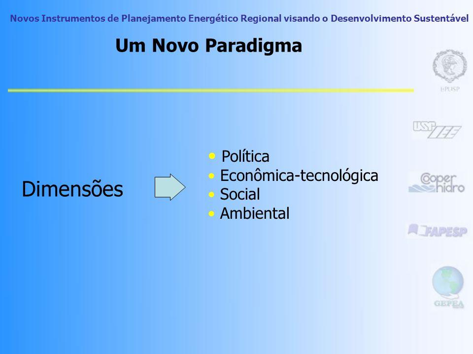 Dimensões Um Novo Paradigma Política Econômica-tecnológica Social