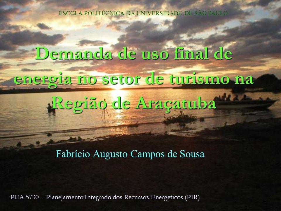 Qualificação25/03/2017. ESCOLA POLITÉCNICA DA UNIVERSIDADE DE SÃO PAULO. Demanda de uso final de energia no setor de turismo na Região de Araçatuba.