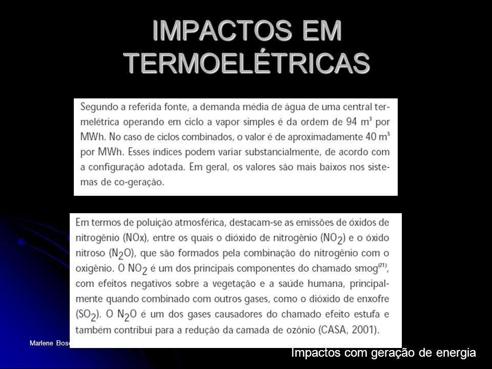 IMPACTOS EM TERMOELÉTRICAS