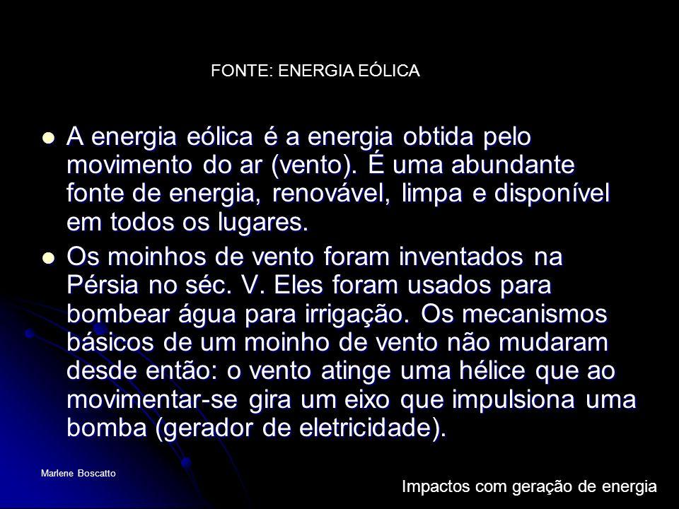 FONTE: ENERGIA EÓLICA