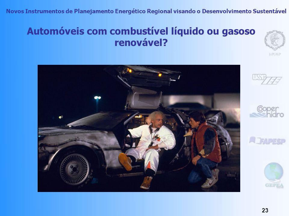 Automóveis com combustível líquido ou gasoso renovável