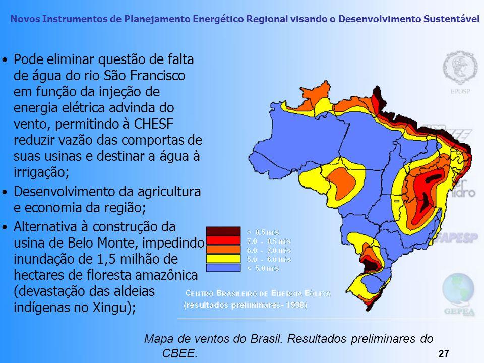 Desenvolvimento da agricultura e economia da região;