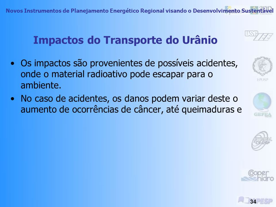 Impactos do Transporte do Urânio