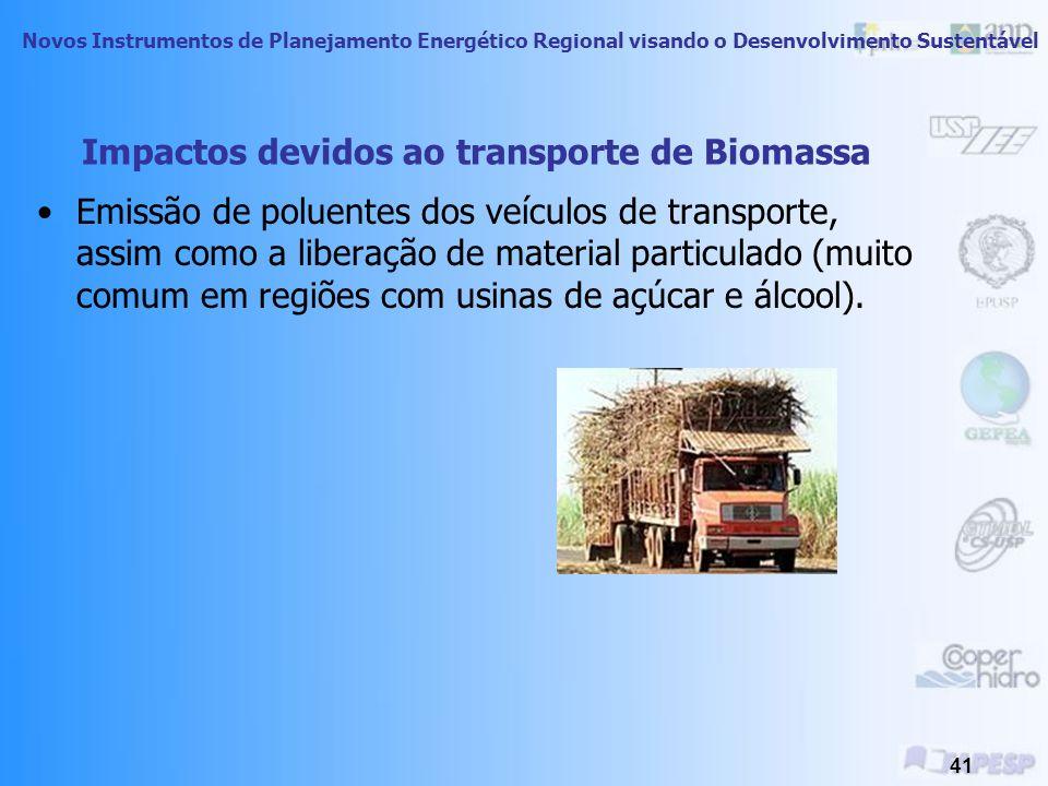 Impactos devidos ao transporte de Biomassa