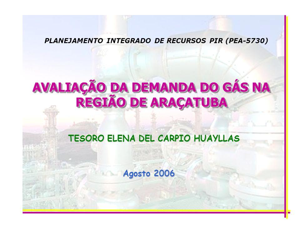 AVALIAÇÃO DA DEMANDA DO GÁS NA REGIÃO DE ARAÇATUBA