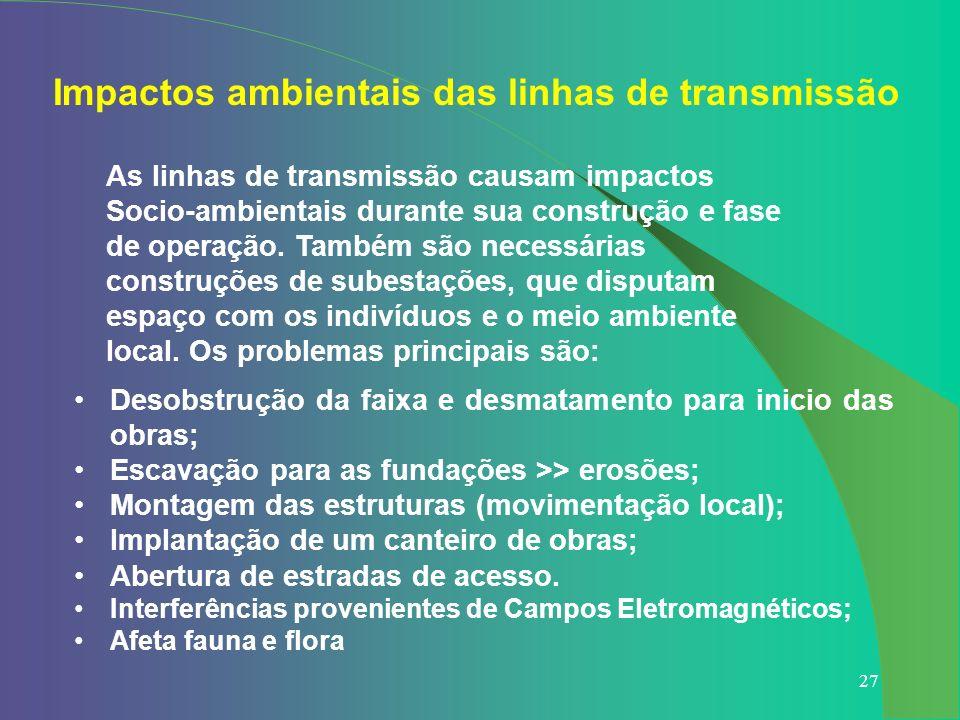 Impactos ambientais das linhas de transmissão