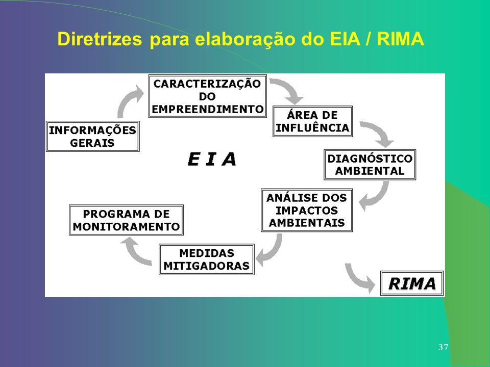 Diretrizes para elaboração do EIA / RIMA
