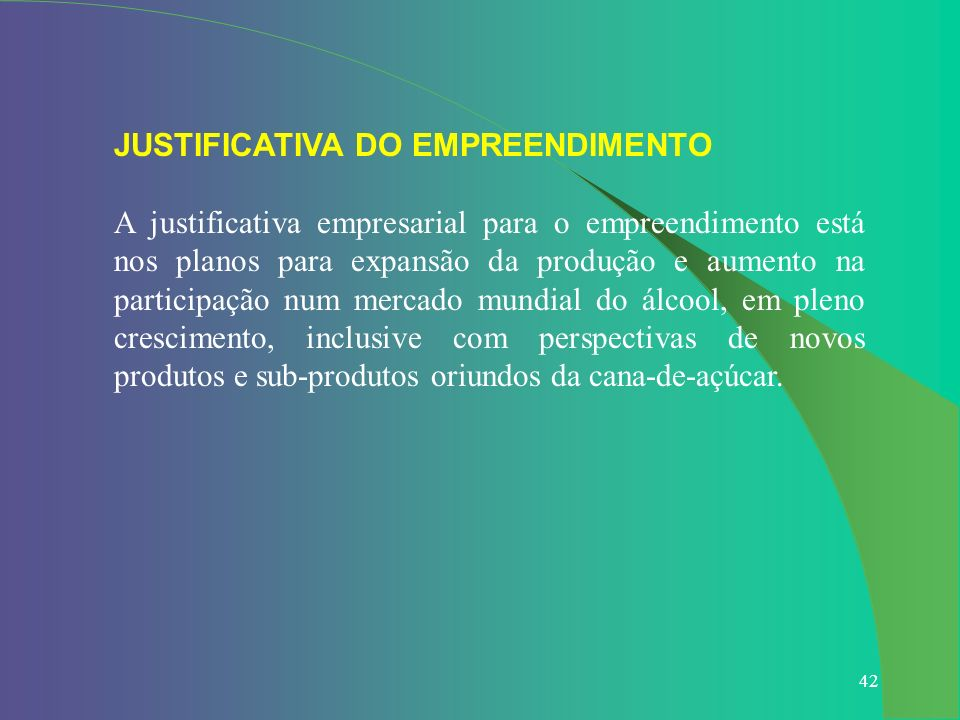 JUSTIFICATIVA DO EMPREENDIMENTO