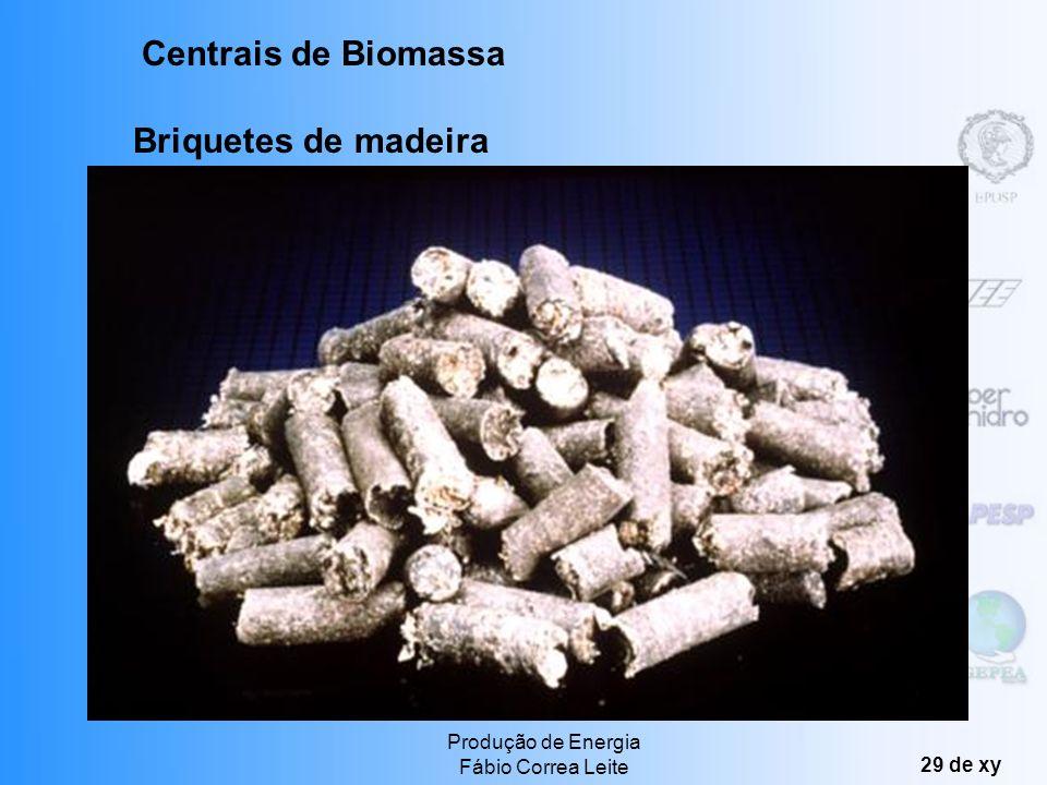 Centrais de Biomassa Briquetes de madeira Produção de Energia