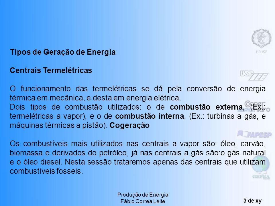Tipos de Geração de Energia Centrais Termelétricas