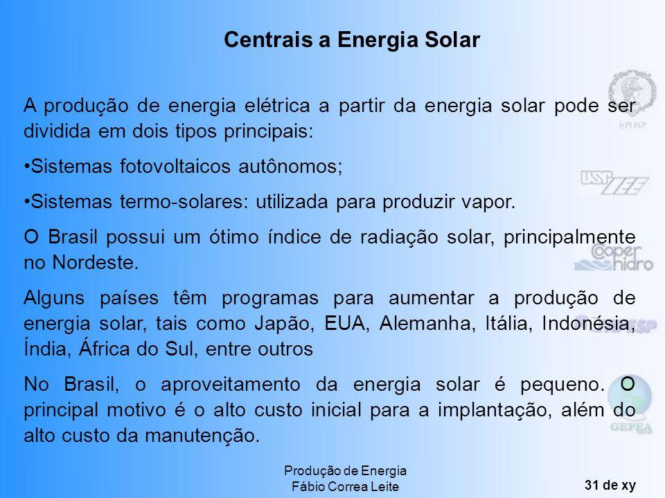 Centrais a Energia Solar