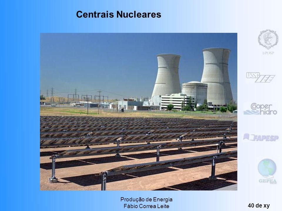 Centrais Nucleares Produção de Energia Fábio Correa Leite