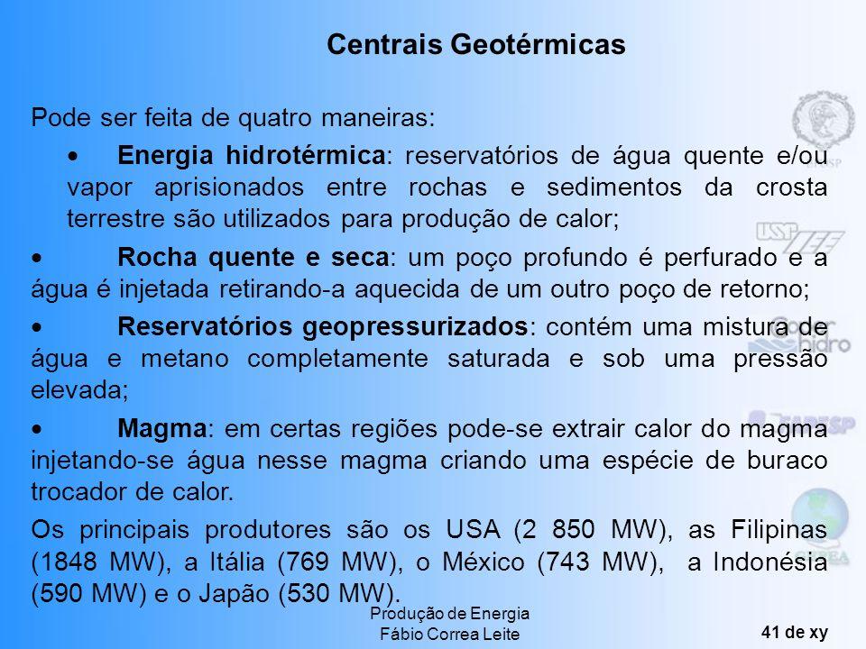 Centrais Geotérmicas Pode ser feita de quatro maneiras: