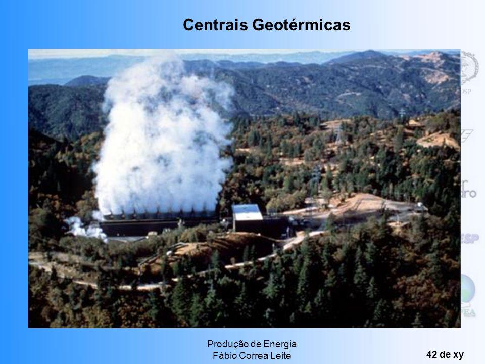 Centrais Geotérmicas Produção de Energia Fábio Correa Leite