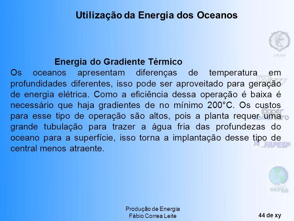 Utilização da Energia dos Oceanos