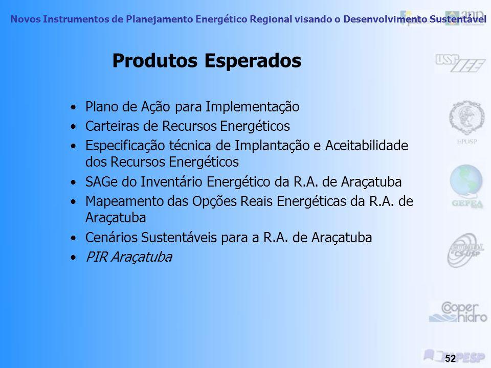Produtos Esperados Plano de Ação para Implementação