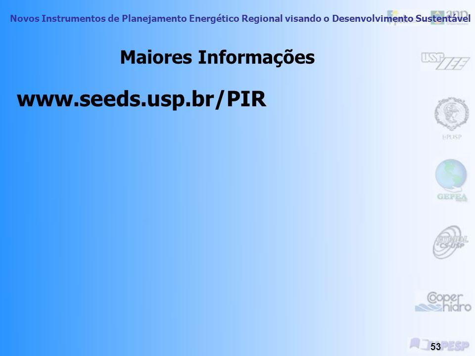 Maiores Informações www.seeds.usp.br/PIR